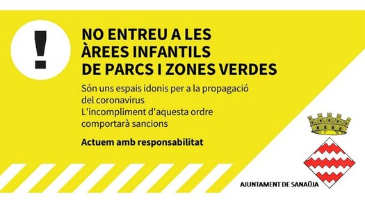 Prohibit entrar a zones infantils municipals