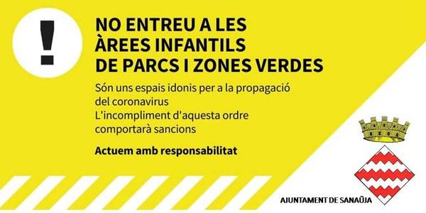 Prohibit entrar a zones infantils municipals